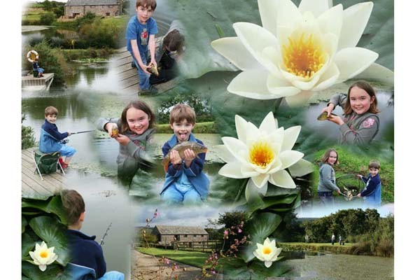 Canvas blended photo montage