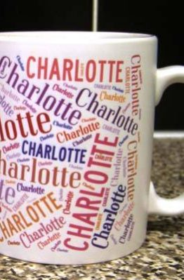 word art mug photo gift