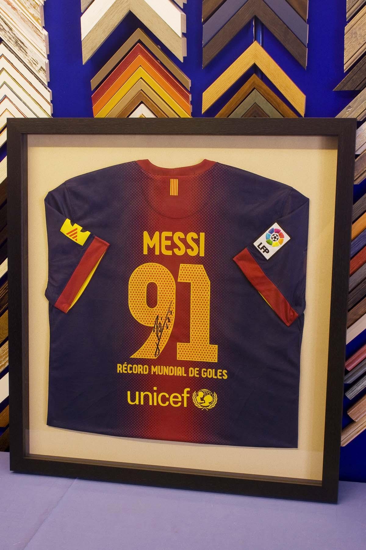football shirt in frame