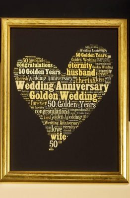 GOLDEN WEDDING WORD ART