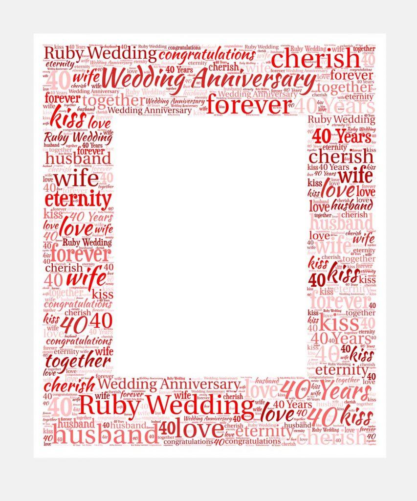 Ruby wedding anniversary mount