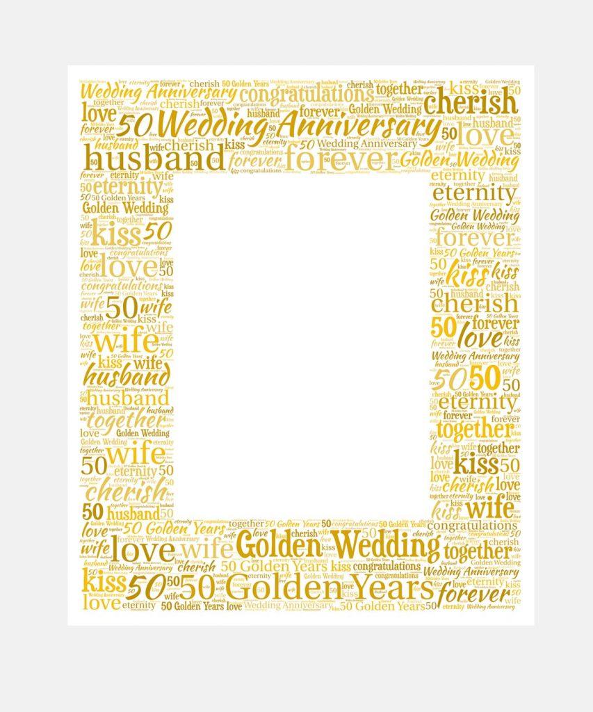 golden wedding anniversary mount
