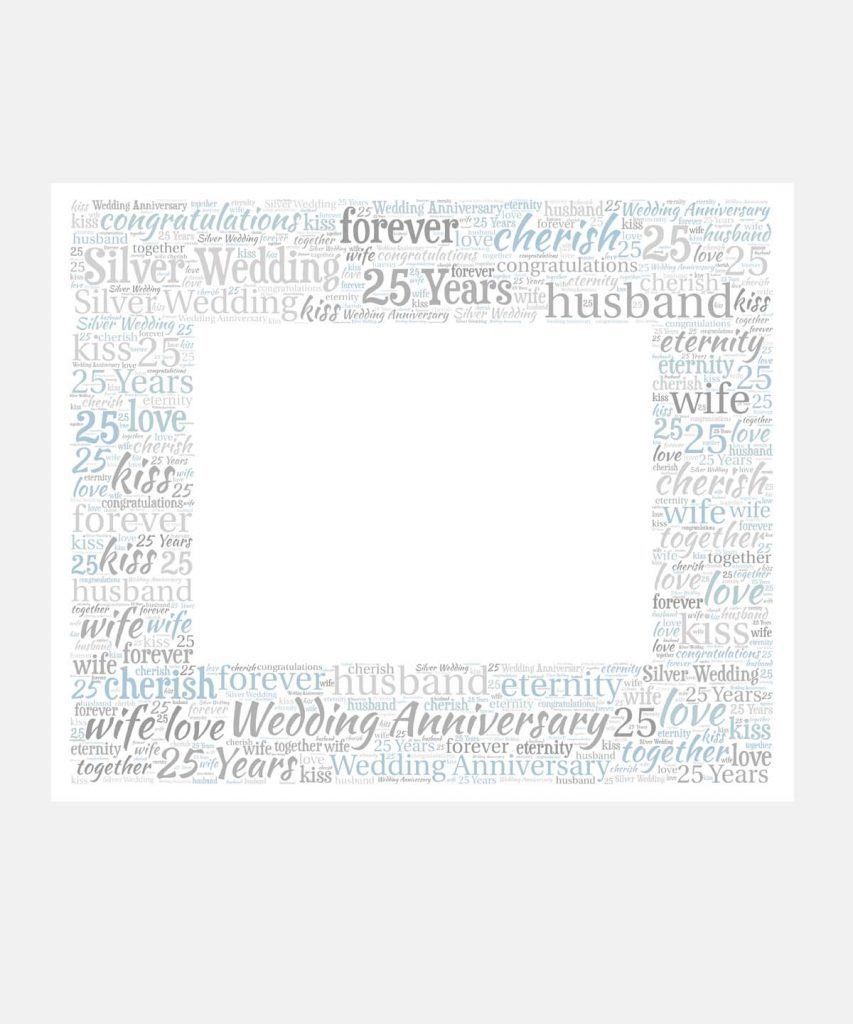 Silver wedding anniversary mount