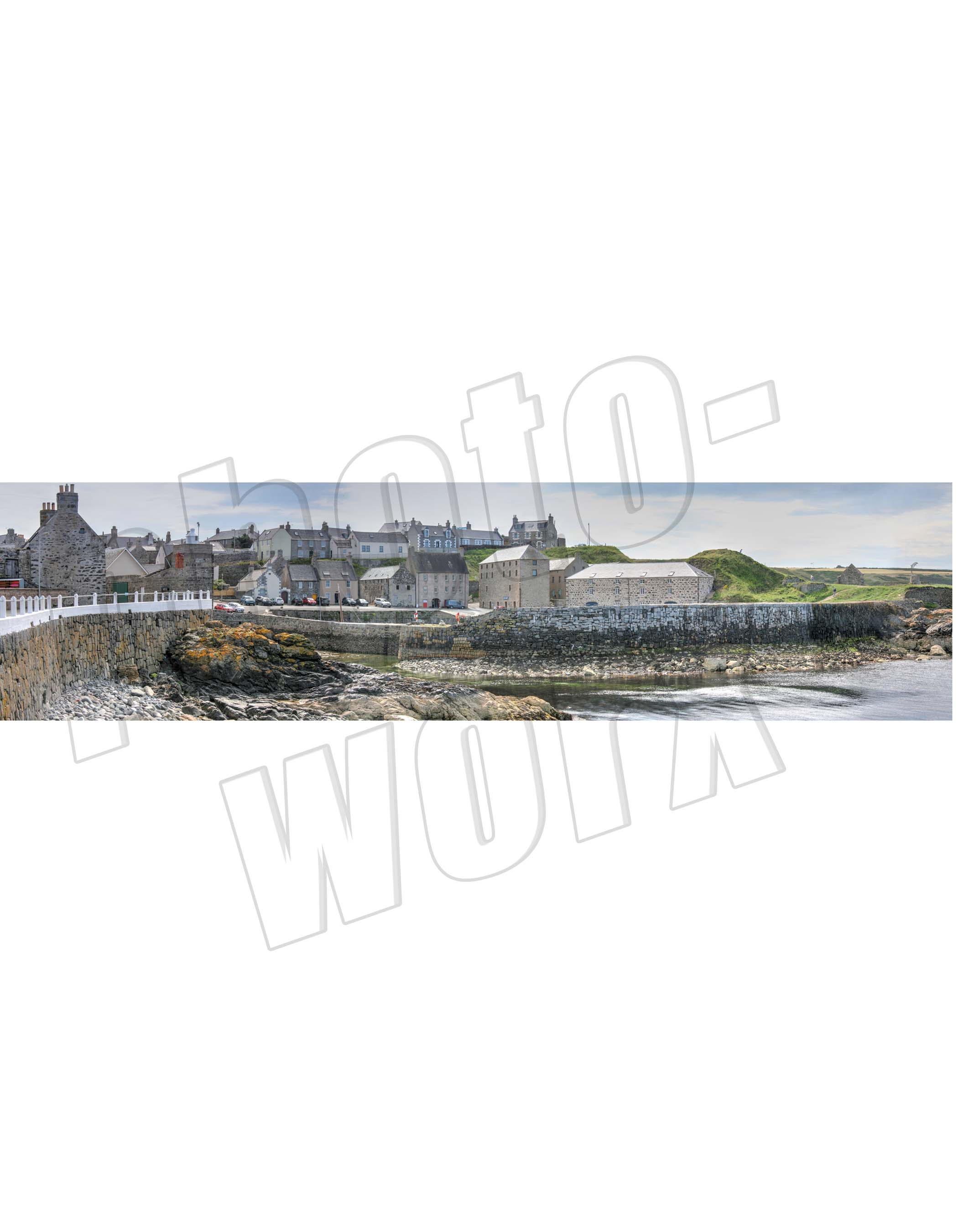 Portsoy - The Harbour Panorama (colour) - PHOTOWORX PICTURE FRAMERS