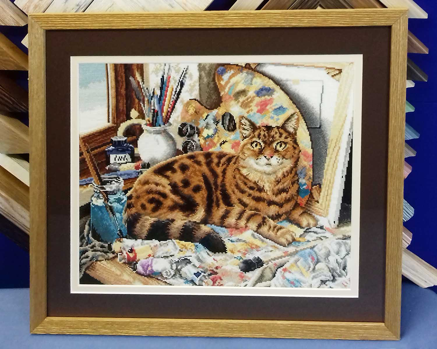 Needlework framing - tapestries, cross stitches, embroideries.
