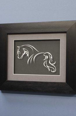 Horse Line Designs No5 White