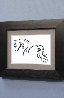 Horse Line Designs No5 Black