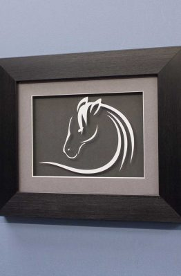 Horse Line Designs No3 White