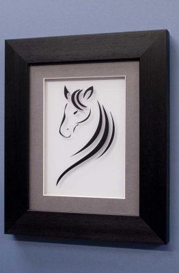 Horse Line Designs No2 Black