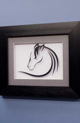 Horse Line Designs No3 Black