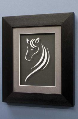 Horse Line Designs No2 White