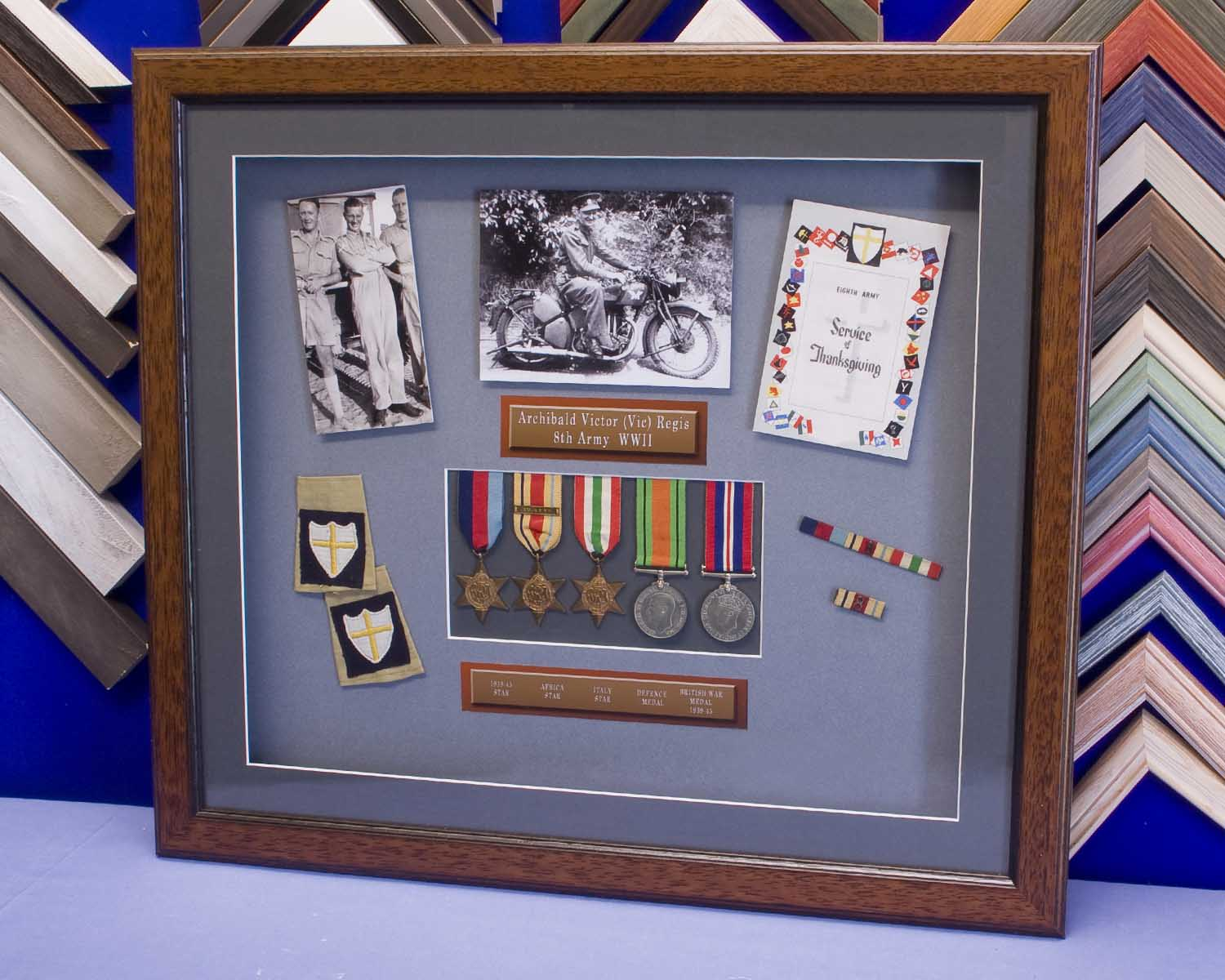 Medals and WWII service memorabilia