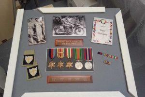 Medals layout plus WW2 memorablia