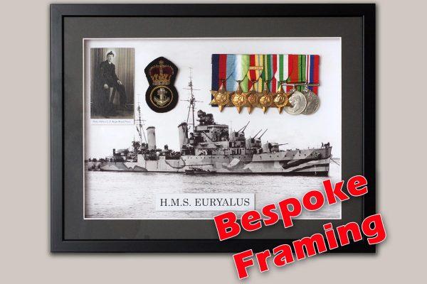 medals and memorabilia framing