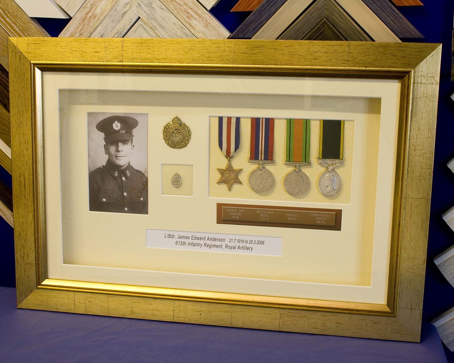More Military Medals Framing